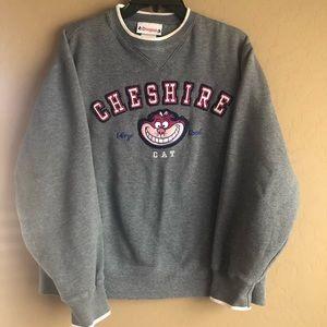 Vintage Disneyland Gray Cheshire Cat Sweatshirt